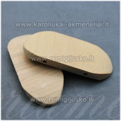 med0008 apie 25 x 55 mm, medinis ruošinys, dviejų eilių, 1 vnt.