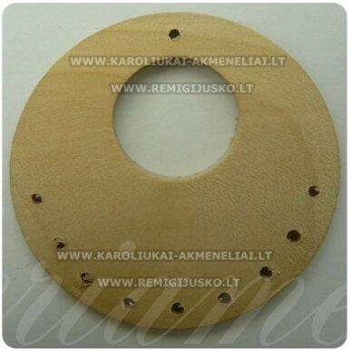 med0053 apie 48 x 5 mm, gelsva spalva, disko forma, pakabukas, 1 vnt.