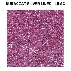 Miyuki Round Seed Beads Rocailles 11/0 (2mm) Duracoat Silver Lined - Lilac (8.5g tube)