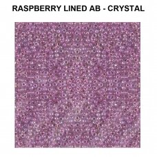 Miyuki Round Seed Beads Rocailles 11/0 (2mm) Raspberry Lined AB - Crystal (8.5g tube)