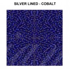 Miyuki Round Seed Beads Rocailles 11/0 (2mm) Silver Lined - Cobalt (8.5g tube)