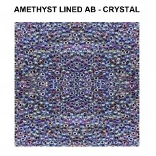 Miyuki Round Seed Beads Rocailles 8/0 (3mm) Amethyst Lined AB - Crystal (22g tube)
