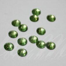 mklsw0214 ss08 apie 2.30 - 2.50 mm, peridot (214), klijuojama akutė, apie 190 vnt.
