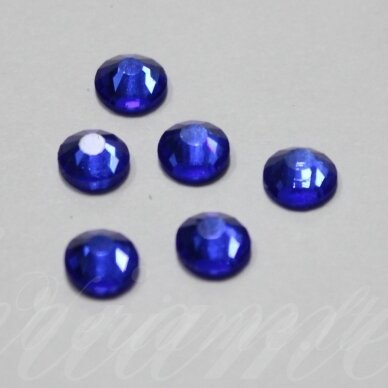 mklsw0206 ss12 apie 3.00 - 3.20 mm, sapphire (206), klijuojama akutė, apie 105 vnt.