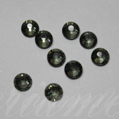 mklsw0215 ss16 apie 3.80 - 4.00 mm, black diamond (215), klijuojama akutė, apie 75 vnt.