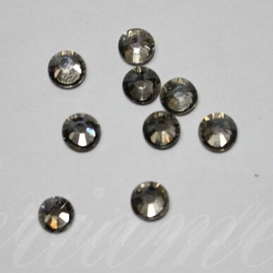 mklsw0225 ss30 apie 6.40 - 6.60 mm, smoky quartz (225), klijuojama akutė, apie 16 vnt.