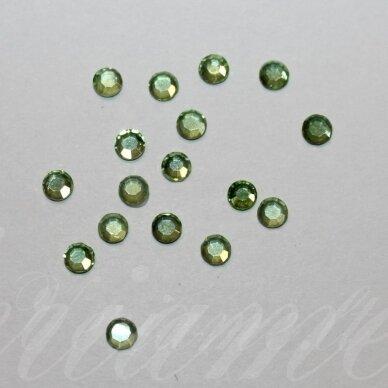mklsw0238 ss16 apie 3.80 - 4.00 mm, chrystolite (238), klijuojama akutė, apie 75 vnt.