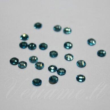mklswlg0263 ss16 apie 3.80 - 4.00 mm, light turquoise (263), klijuojama akutė, su klijais (klijuoti lygintuvu), apie 75 vnt.