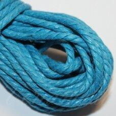 mpv0004 apie 3 mm, šviesi, mėlyna spalva, pinta, medvilninė virvutė, 5 m.