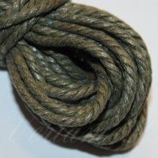 mpv0006 apie 2 mm, chaki spalva, pinta, medvilninė virvutė, 5 m.
