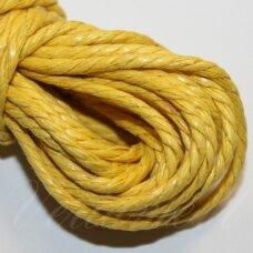 mpv0008 apie 2 mm, geltona spalva, pinta, medvilninė virvutė, 5 m.