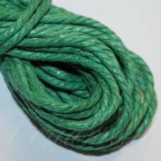 mpv0010 about 3 mm, green color, weave, cotton string, 5 m.