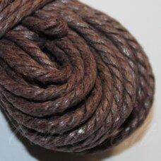 mpv0012 apie 3 mm, ruda spalva, pinta, medvilninė virvutė, 5 m.