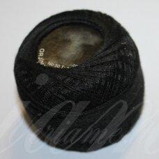 msl0020, juoda spalva, siūlai, 20 g.