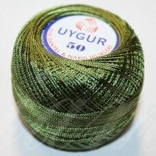 msl0116 tamsi, žalia spalva, siūlai, 20 g.