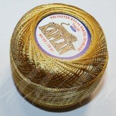 msl0786, auksinė spalva, siūlai, 20 g.