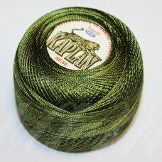 msl1015, tamsi, žalia spalva, siūlai, 20 g.