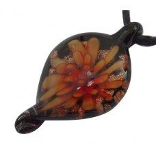 MSP0001 apie 36 x 16 x 8 mm, murano stiklas, pakabukas, 1 vnt.