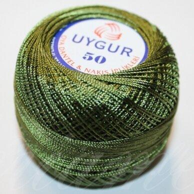 msl0116, tamsi, žalia spalva, siūlai, 20 g.