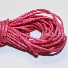mv0011 apie 1 mm, rožinė spalva, medvilninė virvutė, 5 m.