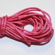 mv0011 apie 2 mm, rožinė spalva, medvilninė virvutė, 5 m.