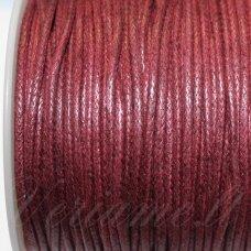 mv0014 apie 2 mm, raudona spalva, medvilninė virvutė, 5 m.