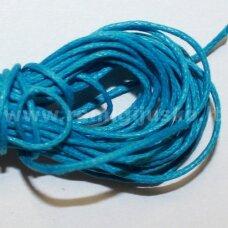 mv0018 apie 1 mm, mėlyna spalva, medvilninė virvutė, 5 m.