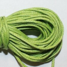 mv0019 about 2 mm, light green color, cotton string, 5 m.