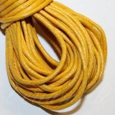mv0023 apie 1 mm, geltona spalva, medvilninė virvutė, 5 m.