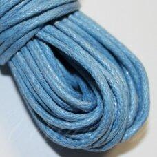 mv0029 apie 2 mm, mėlyna spalva, medvilninė virvutė, 5 m.