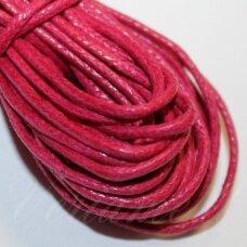 mv0035 apie 2 mm, rožinė spalva, medvilninė virvutė, 5 m.