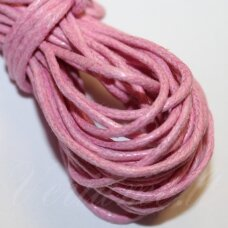mv0036 about 2 mm, light, pink color, cotton string, 5 m.