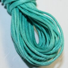 mv0037 about 1 mm, light blue - green color, cotton string, 5 m.