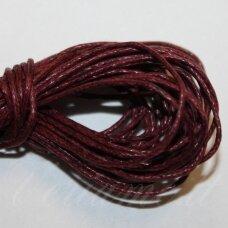 MV0039 apie 1 mm, bordinė spalva, medvilninė virvutė, 5 m.
