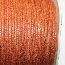 mv0046 apie 2 mm, šviesi, ruda spalva, medvilninė virvutė, 5 m.