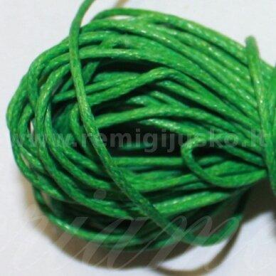 mv0017 apie 1.5 mm, žalia spalva, medvilninė virvutė, 10 m.
