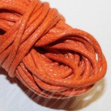mv0031 apie 2 mm, oranžinė spalva, medvilninė virvutė, 5 m.