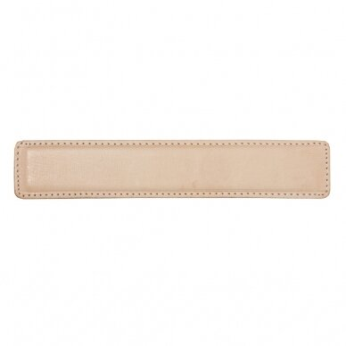 Leather Memory Cuff 3cm Width 16.5cm Length Natural