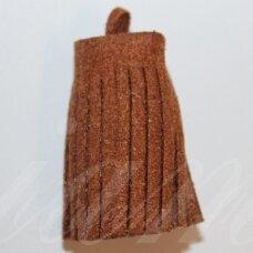 OKUT0139 apie 30 x 12 mm, ruda spalva, odinis kutas, 1 vnt.