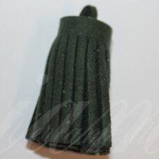 OKUT0141 apie 30 x 12 mm, žalia spalva, odinis kutas, 1 vnt.