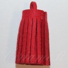 OKUT0142 apie 30 x 12 mm, raudona spalva, odinis kutas, 1 vnt.