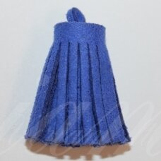 OKUT0144 apie 30 x 12 mm, mėlyna spalva, odinis kutas, 1 vnt.