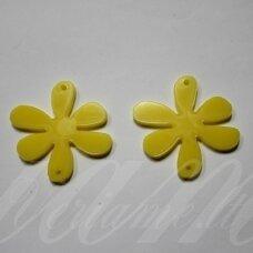 osp1h02-gel-22x22 apie 22 x 22 mm, gėlytės forma, organinis stiklas, pakabuko detalė, 1 vnt.