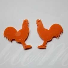 osp2h02-gaid-32x32. about 32 x 32 mm, rooster shape, organic glass, pendant part, 1 pc.
