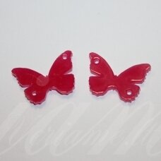 osp3h00-drug-24x16. about 24 x 16 mm, butterfly shape, organic glass, pendant part, 1 pc.