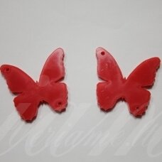 osp3h01-drug-40x35. about 40 x 35 mm, butterfly shape, organic glass, pendant part, 1 pc.