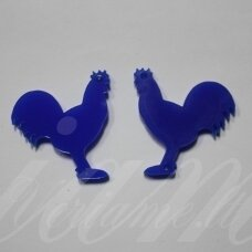 osp5h01-gaid-32x32. about 32 x 32 mm, rooster shape, organic glass, pendant part, 1 pc.