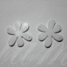 ospwh01-gel-40x40. apie 40 x 40 mm, gėlytės forma, organinis stiklas, pakabuko detalė, 1 vnt.
