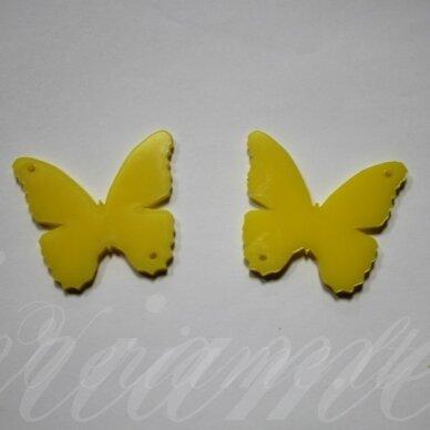 osp1h02-drug-40x35 apie 40 x 35 mm, drugelio forma, organinis stiklas, pakabuko detalė, 1 vnt.
