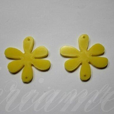 osp1h02-gel-40x40 apie 40 x 40 mm, gėlytės forma, organinis stiklas, pakabuko detalė, 1 vnt.